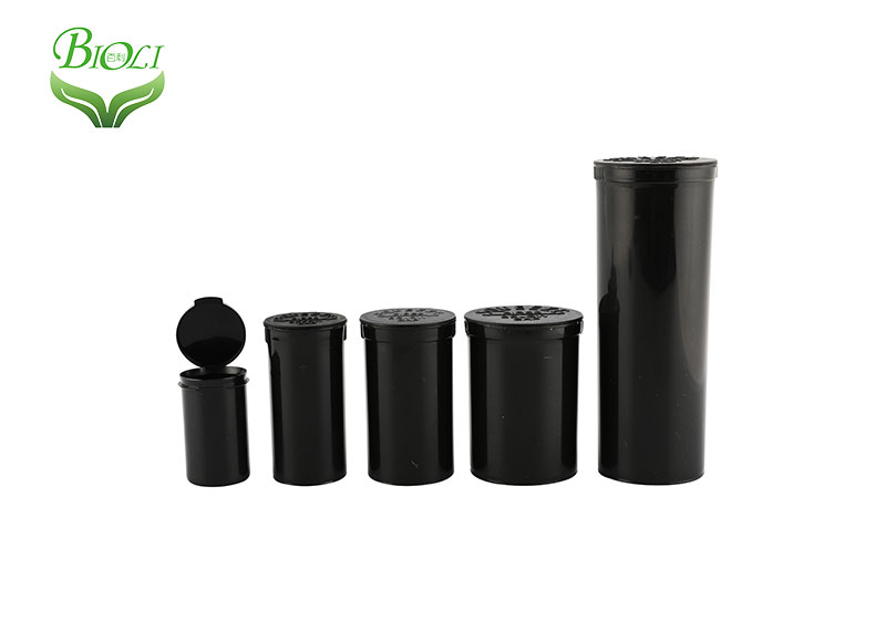 Pharmacy Pop Top Vials Hinged Medical Plastic Snap Cap Pill Bottles Medical Capsule Container Child Proof Squeeze Bottles