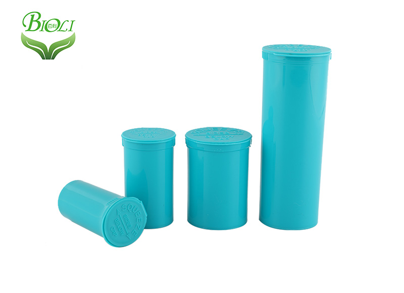 plastic pop vials and containers