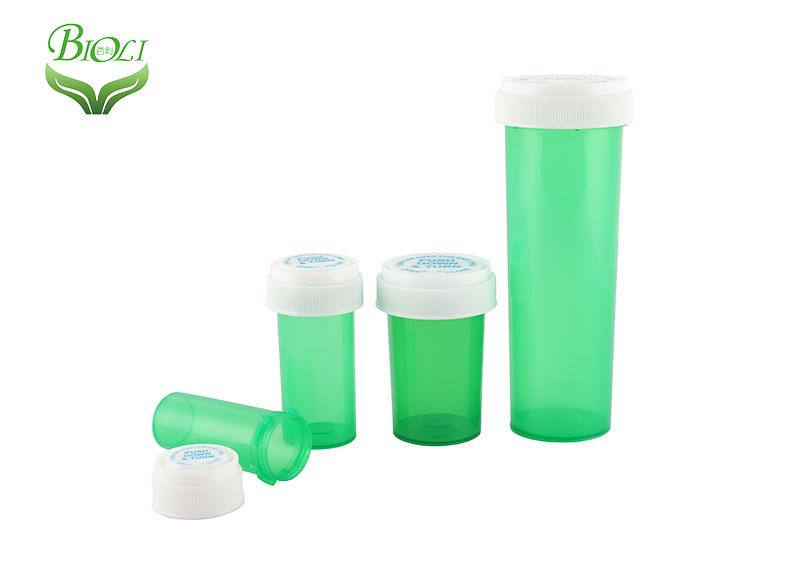 Empty Child Resistant Plastic Reversible Vials with Screw Cap 4DR 6DR 8DR 10DR 13DR 16DR 20DR 30DR 40DR 60DR