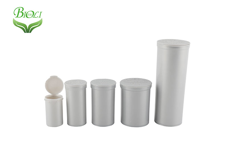 Dispensary Pop Top Vials Used for Smell Proof Packaging Flower Proof Pop Top Containers
