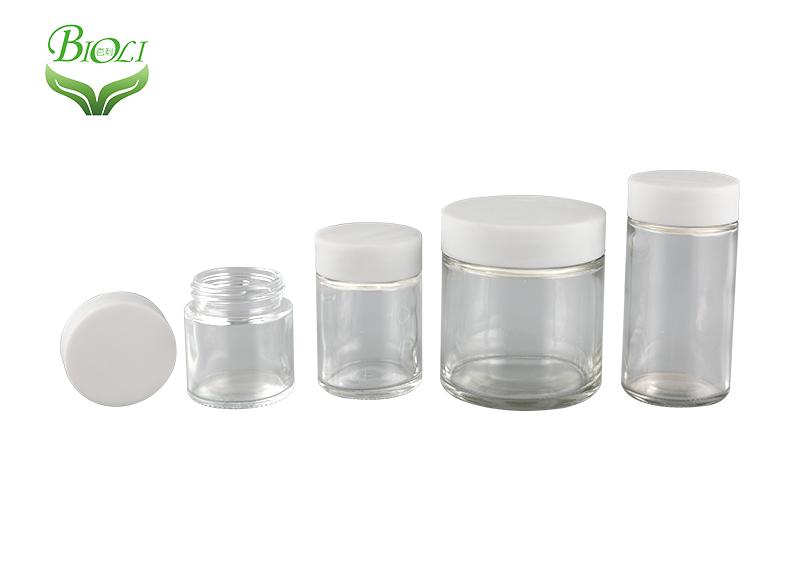 Glass jar and tube