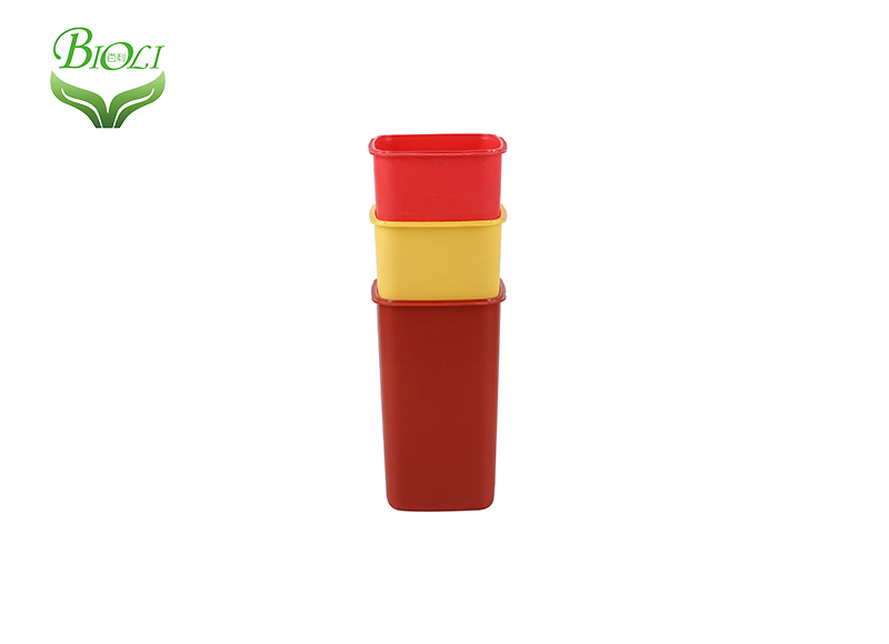 1qt mini size plastic medical sharp container