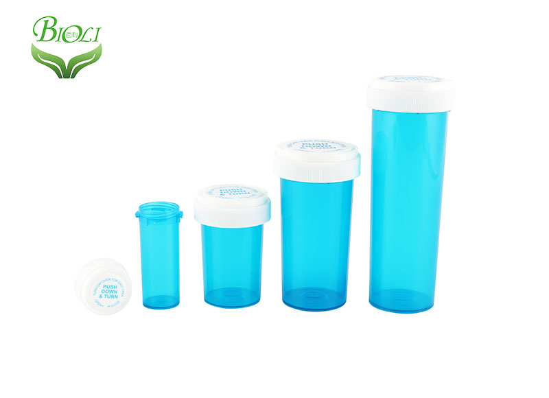 Push down & turn vials,reversible pharmacy vials