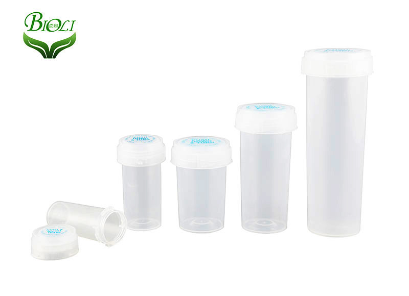 Child Safty Pharmacy Vial Tablet Pill Vial Packaging Plastic Reversible Vials
