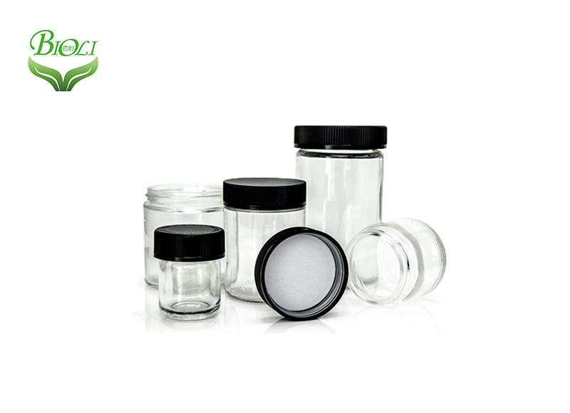 Glass Wax Containers clear color 3ml 5ml CBD Wax Oil Concentrate Container glass Jar