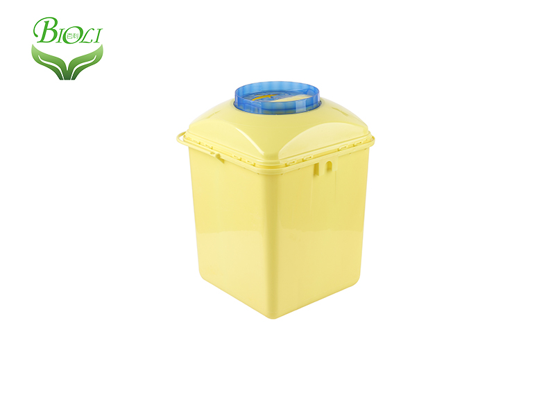 UAE Hot selling 5L and 10L opaque yellow Sharp Container with handle