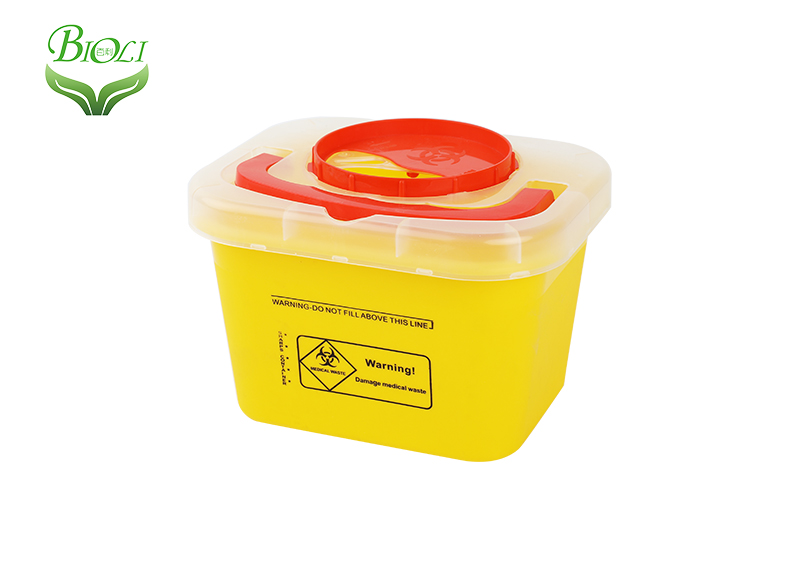 Medical 3L 5L Safety sharp containers for collection of sharps waste