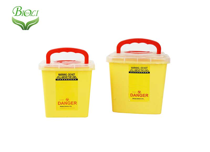 FDA Certificated Plastic Hospital Medical Waste Disposal Bin Box Sharps Container