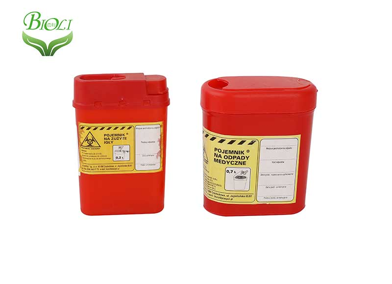 Disposable Plastic Container Sharps Container