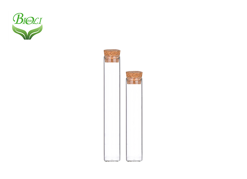 Children Resistant Quartz Test Tube Heat Resistant Glass Tube with Black/White Lid