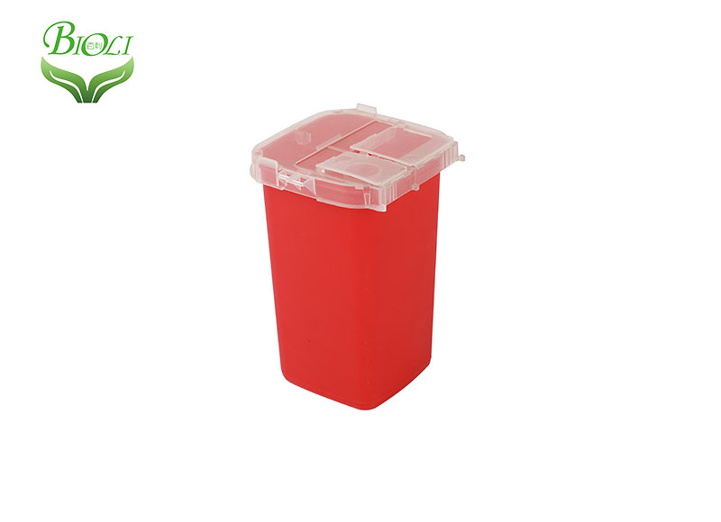 1QT Plastic Syring Needle Sharps Disposal Container