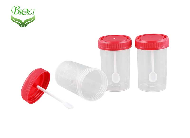 PP 30 ml  60 ml stool sample cup specimen collection container with or without graduation