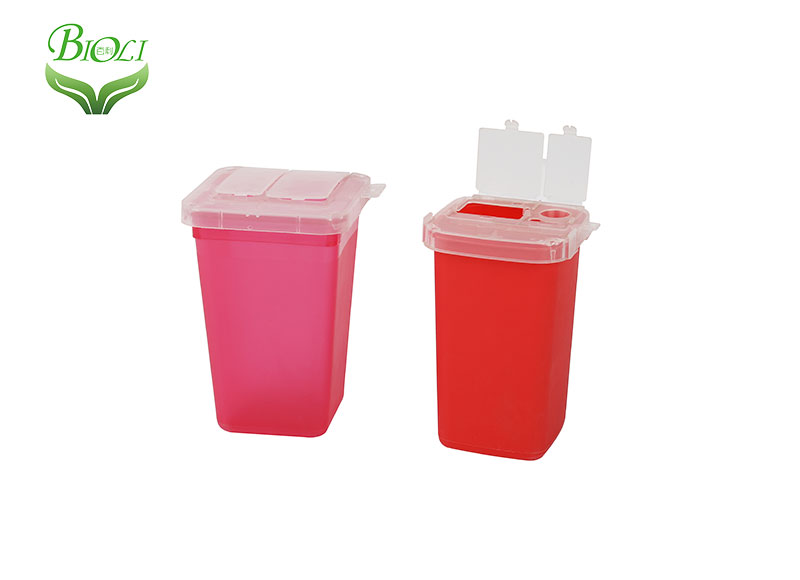 1qt opaque mini plastic needle medical sharp container