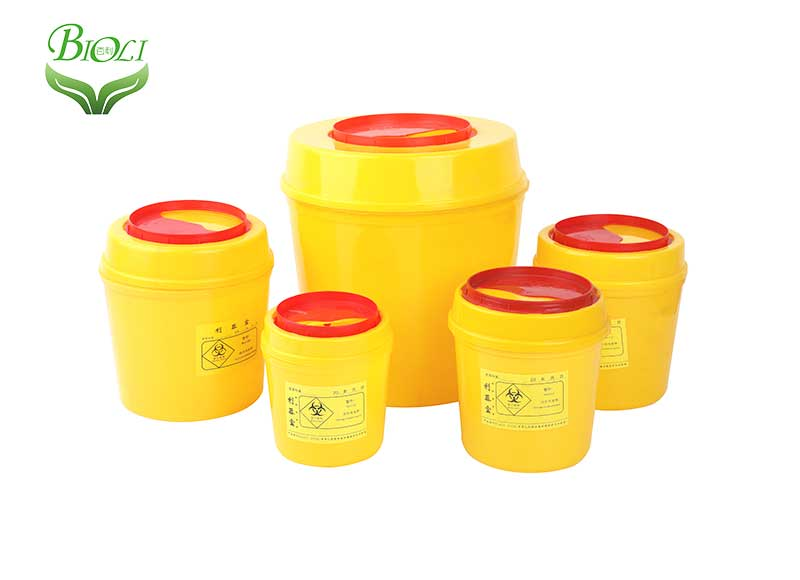 Hospital Waste Bins Sharps Box Waste Container Plastic Medical Waste round Container