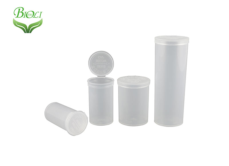 6DR 13DR 19DR 30DR 60DR 90DR Plastic Pop Top Vials for Hemp Flower Packaging
