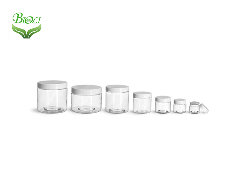 10ml 15ml 20ml ps clear plastic cosmetic container cream pot jars With Screw Top Lid