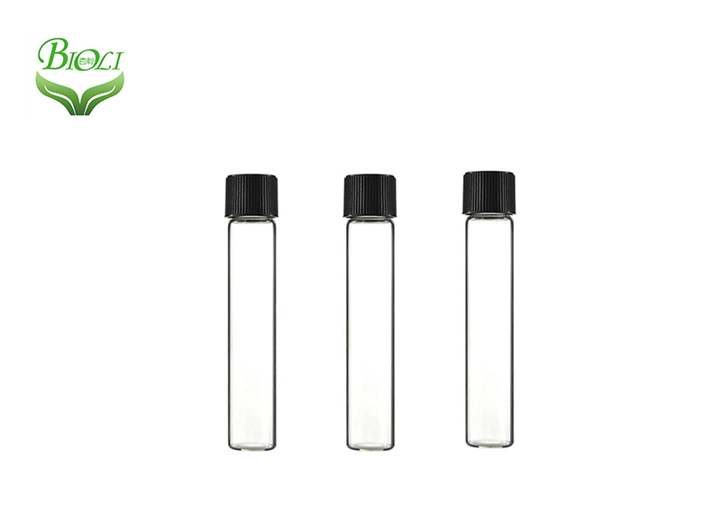 High purity glass tube with push down and turn lid