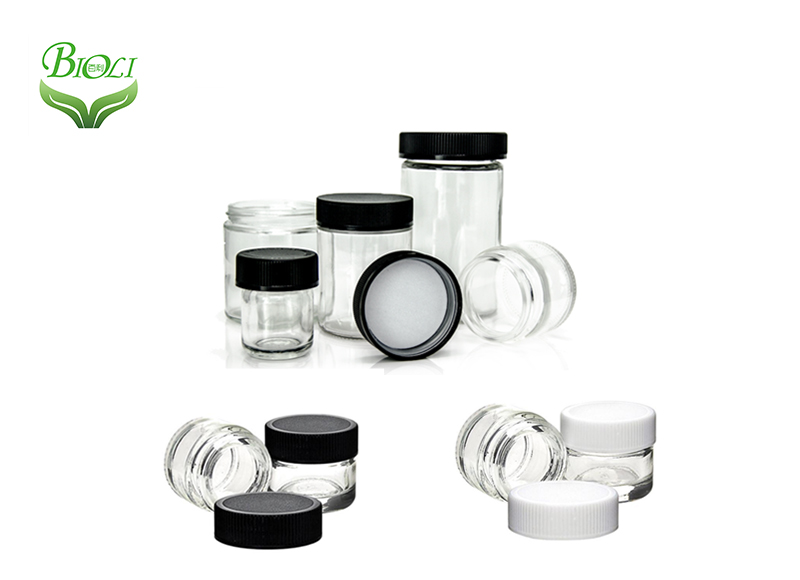 Glass container with child proof screw cap 5ml glass cosmetics jar