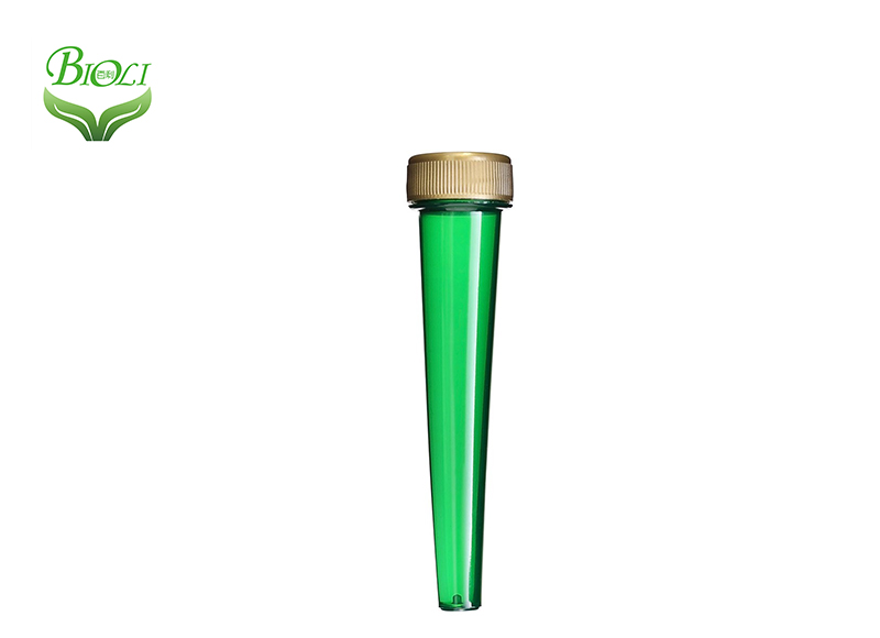 Screw Top Smoke Joint Conical Tube With Gold Cap, Doob Tubes Short/Long Size Cigarette Storage Cones